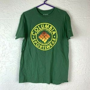 Columbia Sportswear T-Shirt Men L Green Yellow
